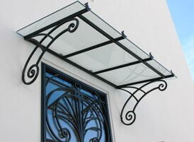 iron canopies and roofs