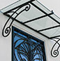 wrought iron projecting roof