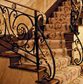 classic wrought iron decorated balustrade
