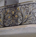 classic balustrade decorated and installed