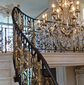 luxury wrought iron balustrade