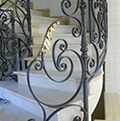 balustrade wrought iron detail