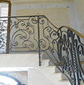wrought iron balustrade scrolls