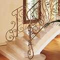 internal wrought iron balustrade