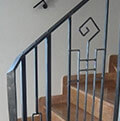 geometrical wrought iron balustrade