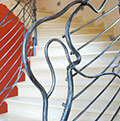 modern wrought iron balustrade