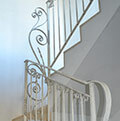 wrought iron white balustrade