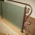 wrought iron and glass balustrade