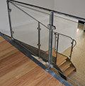 modern wrought iron and glass balustrade